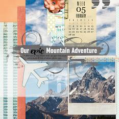 #digitalscrapbooking travel layout idea by Amanda Fraijo-Tobin | AFTdesigns.net