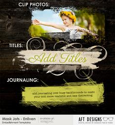 use #photoshop embellishment and brushes to create blended backgrounds, add titles, and creating journaling elements #artjournal #design | available at ScrapGirls.com