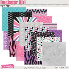 Rockstar Girl Paper Biggie by Carolyn Rose Kite