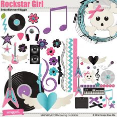 Rockstar Girl Embellishments Biggie by Carolyn Rose Kite