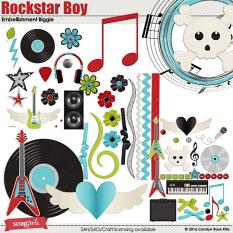 Rockstar Boy Embellishments Biggie by Carolyn Rose Kite