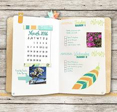 Plan Perfect March Planner Mini Kit Layout