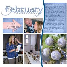 """February"" digital layout features Pocket Life: Scrap It Monthly Two"