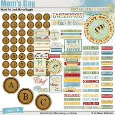 Mom's Day Word Art and Alpha Biggie
