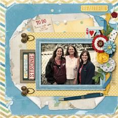 Beautiful layout using the Mom's Day Collection Biggie