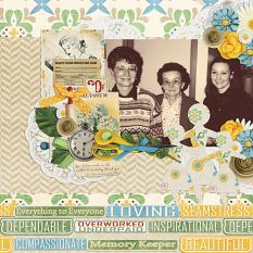 Mothers layout using the Mom's Day Collection Biggie