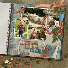 """""""Dinosaur Adventure"""" digital scrapbooking featuring Time To RAWR Collection"""