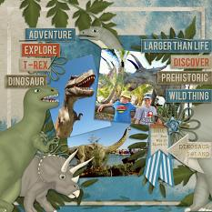 """""""Dinosaur Island"""" digital scrapbooking featuring Time To RAWR Collection"""