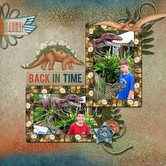 """""""Back In Time"""" digital scrapbooking featuring Time To RAWR Collection"""