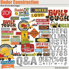Under Construction Word Art and Alpha