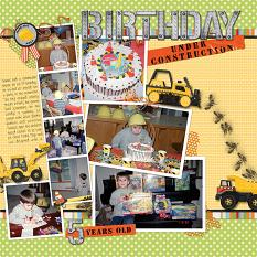 Digital Scrapbooking layout featuring Under Construction Collection Biggie