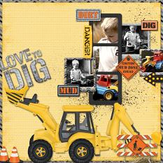 Digital Scrapbooking layout using Under Construction Collection Biggie