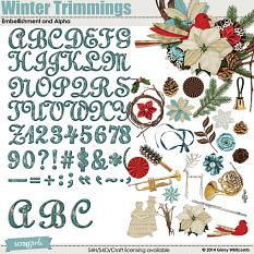 Winter Trimmings Embellishments and Alpha
