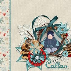 """""""Callan""""  layout featuring Winter Trimmings Collection Mini"""