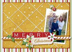 Merry Christmas digital scrapbooking layout featuring North Pole Friends Collections