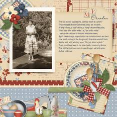 My Grandma digital layout using Grandma's Kitchen Collections