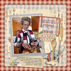Gramma Buns digital layout using Grandma's Kitchen Collections