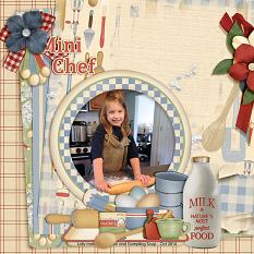 Mini Chef digital layout using Grandma's Kitchen Collections