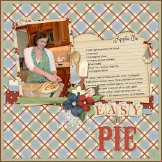 Easy As Pie digital layout using Grandma's Kitchen Collections