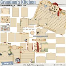 Grandma's Kitchen Recipe Cards