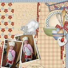 Li'l Baker layout featuring Grandma's Kitchen Collections