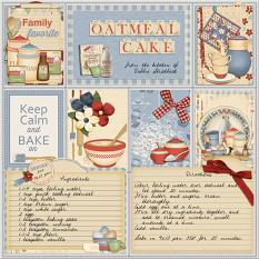 Oatmeal Cake layout featuring Grandma's Kitchen Collections
