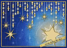 Let Us Follow His Star digital card using the ScrapSimple Card Templates:  5x7 Holiday