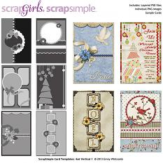ScrapSimple Card Templates:  4x6 Vertical