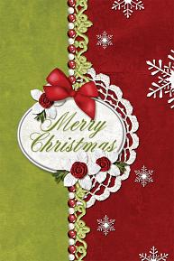 Merry Christmas digital Card using ScrapSimple Card Templates: 4x6 Vertical 1