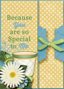Special To Me card featuring the ScrapSimple Card Templates:  5x7 Everyday