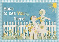 Hope To See You There! card featuring the ScrapSimple Card Templates:  5x7 Everyday