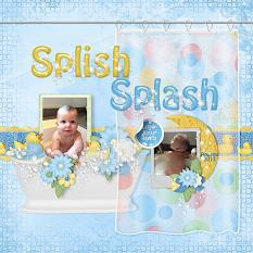 Splish Splash layout using the Rub A Dub Dub Collection Biggie