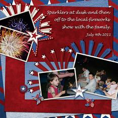 Fireworks digital scrapbooking layout using Big Bang Collection Super Mini