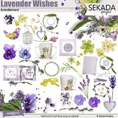 Lavender Wishes Embellishment Mini