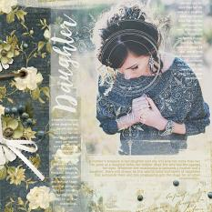 """Daughter"" digital scrapbooking layout by Brandy Murry"