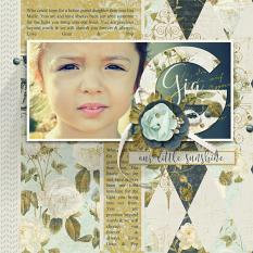 """Gia"" digital scrapbooking layout by Brandy Murry"