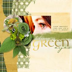 Green Eyes #digitalscrapbooking layout idea by Amanda Fraijo-Tobin  - great idea for spring or St. Patrick's day as well