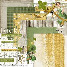 St. Patrick's themed #digitalscrapbooking Collection included in this Value Pack