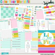Color Your World Fit Printable Planner