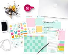 Printable Color Your World Fit Planner Pages