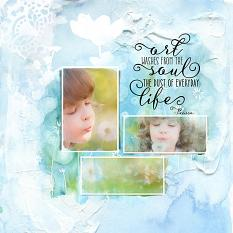 Layout using Artful Life embellishment templates
