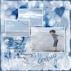 Layout by Judy Webster using Artful Life paper templates