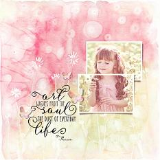 Layout using Artful Life Paper templates