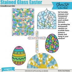 Stained Glass Easter Embellishment Mini