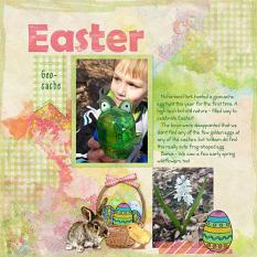 Layout using Stained Glass Easter by Cheri Thieleke