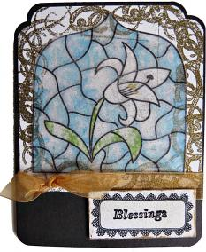 Hybrid card by Lei Maier uses Stained Glass Easter by Cheri Thieleke
