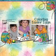 Layout by Melanie Cockshott using Stained Glass Easter by Cheri Thieleke