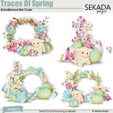 Traces Of Spring Embellishment Mini Cluster