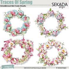 Traces Of Spring Emb Cluster Mini Wreaths
