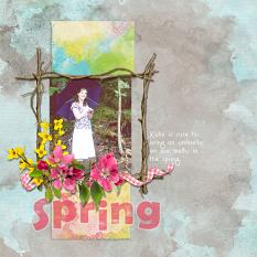 Layout featuring Spring Branches Embellishment Mini